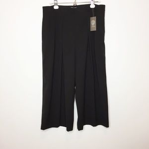 NWOT Vince Camuto black wide leg trousers size 12